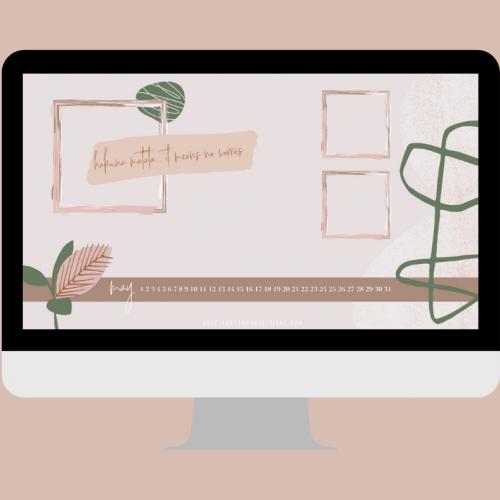 Inspirational Desktop Wallpaper // 12 Month Calendar